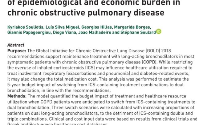 The cost-saving switch from inhaled corticosteroid-containing treatments to dual bronchodilation: a two-country projection of epidemiological and economic burden in chronic obstructive pulmonary disease
